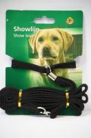 Поводок-ринговка для собак, 10 мм х 120 см, нейлон, черный