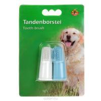 Зубная щетка для собак на палец, 2 шт