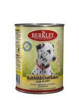 Berkley Влажный корм для щенков с кроликом и овсянкой (Puppy Rabbit&Oatflakes)