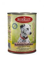 Berkley Влажный корм для собак с кроликом и овсянкой (Adult Rabbit&Oatflakes)