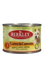 Berkley Влажный корм для собак с дичью и морковью (Adult Game&Carrots)
