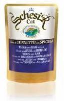 Schesir Корм влажный для кошек тунец с окунем (пауч)