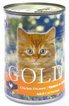 """Nero Gold Chicken Fricassee Неро Голд консервы для кошек """"Фрикасе из курицы"""""""