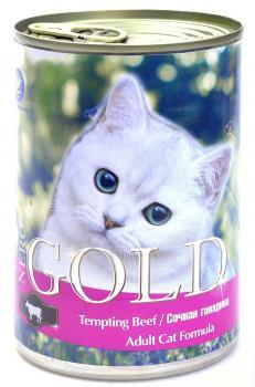 "Nero Gold Неро Голд консервы для кошек ""Сочная говядина"""