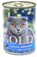 "Nero Gold Mixed Fish Неро Голд консервы для кошек ""Рыбный коктейль"""