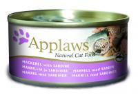 Applaws консервы для кошек со скумбрией и сардинками, Cat Mackerel & Sardine
