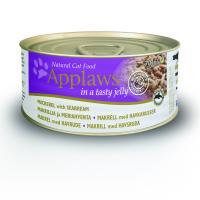 Applaws кусочки в желе для кошек со скумбрией и морским окунем, Jelly Mackerel & Seabream