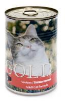 Nero Gold Неро Голд консервы для кошек Свежая Оленина