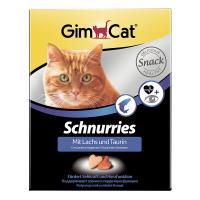 Gimcat «Schnurries» Витаминизированные «сердечки» с таурином и лососем с ТГОС для кошек,  650 шт