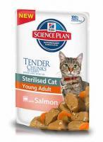 Hill?s™ Science Plan™ Young Adult Salmon Влажнй корм пауч Для Кошек лосось