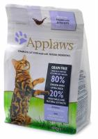 "APPLAWS Эплоус беззерновой сухой корм для кошек ""Курица и Утка/Овощи: 80/20%"", Dry Cat Chicken with Duck"