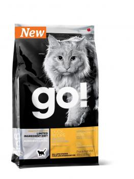 GO! NATURAL Holistic Гоу беззерновой сухой корм для котят и кошек с чувствительным пищеварением со свежей уткой, Sensitivity + Shine Grain Free Duck Cat Recipe