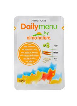 "Almo Nature Алмо Нечерал Паучи для кошек ""Меню с Курицей и Лососем"" (Daily Menu Cat Chicken&Salmon)"