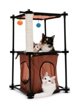 """Kitty City Игровой комплекс с когтеточкой для кошек: Биг Бен. """"Tower""""  сизаль (sp0301)"""