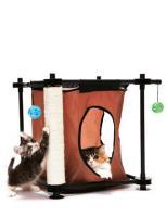 """Kitty City Игровой комплекс с когтеточкой для кошек: Тайное укрытие. """"Hideaway"""" сизаль (sp0303)"""