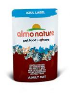 Almo Nature Алмо Нечерал Корм влажный Паучи для Кошек с Курицей и Говядиной (Azul Label Cat Chicken&Beef) 4500