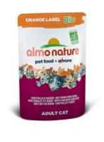 Almo Nature Алмо Нечерал Корм влажный Органик-Паучи для Кошек с Говядиной и Курицей
