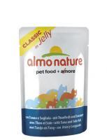 Almo Nature Алмо Нечерал Корм влажный Паучи Тунец и Камбала в Желе для кошек (Jelly Cat Tuna&Sole)
