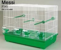 INTER-ZOO Клетка для мелких и средних птиц MESSI на две семьи с разделением