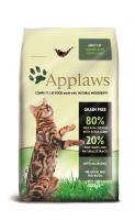 "Applaws Эплоус беззерновой сухой корм для кошек ""Курица и ягненок 80/20%"", Dry Cat Chicken with Lamb"