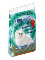 Pussy-Cat Впитывающий Океанический (ароматизированный) наполнитель, 4,5л Зеленый пакет