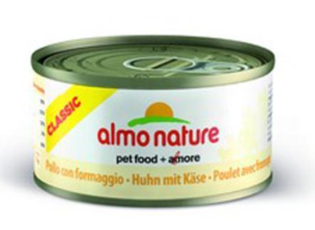 Almo Nature Алмо Нечерал Корм влажный Консервы для Кошек с Курицей и Сыром (Classic Adult Cat Chicken&Cheese) 9083