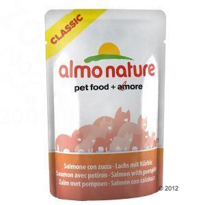 Almo Nature Алмо Нечерал ПАУЧИ для Кошек с Лососем и Тыквой (Classic Adult Cat Salmon&Pumpkin)