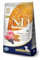N&D Low Grain Dog Lamb & Blueberry Puppy Mini Фармина Сухой корм для щенков мелких пород, беременных и кормящих сук. Спельта, овес, ягненок, черника
