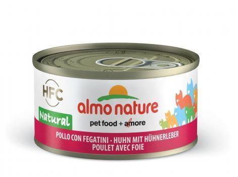 Almo Nature консервы для кошек с курицей и печенью, 75% мяса, HFC