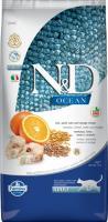 Farmina N&D Low Grain Cat Codfish & Orange Фармина низкозерновой сухой корм для взрослых кошек рыба, апельсин