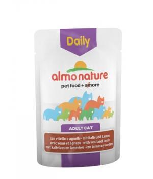 Almo Nature паучи для кошек Меню с телятиной и ягненком Daily Menu - Cat Veal and Lamb