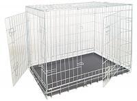 Купить Клетку для собак складную, 2 входа, цинк