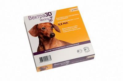 Ceva Vectra 3D капли для собак от клещей, блох