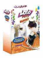 LoLo Pets Flakes Carrot Лакомство для всех грызунов Хлопья Морковные
