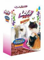 LoLo Pets Flakes Beetroot Лакомство для всех грызунов Хлопья Свекольные