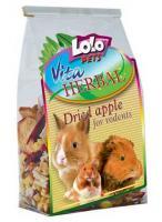 Lolo Pets HERBAL Dried Apple Хербал Яблочный микс для грызунов