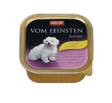 Animonda Vom Feinsten Анимонда консервы с мясом домашней птицы и сердцем индейки для щенков и юниоров