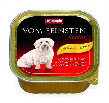 Animonda  Vom Feinsten консервы Анимонда Senior с мясом домашней птицы и ягненком для собак старше 7 лет