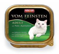 Animonda Vom Feinsten Анимонда Корм влажный для взрослых кошек с индейкой и кроликом