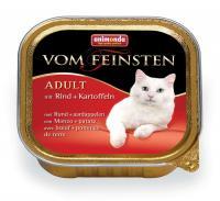 Animonda Vom Feinsten Анимонда Корм влажный для взрослых кошек с говядиной и картошкой