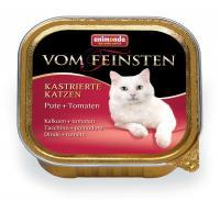Animonda Vom Feinsten Анимонда Корм влажный для кастрированных кошек с индейкой и томатами