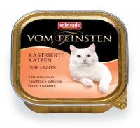 Animonda Vom Feinsten Анимонда Корм влажный для кастрированных кошек с индейкой и лососем