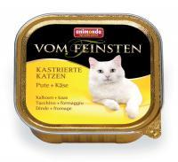 Animonda Vom Feinsten Анимонда Корм влажный для кастрированных кошек с индейкой и сыром