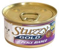 STUZZY GOLD Штузи Влажный корм для взрослых кошек Белая Рыба, мусс