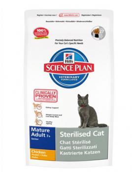 Hill?s ™ Science Plan™ Feline Mature Adult 7+ Sterilised Cat Chicken Корм сухой для стерилизованных кошек и котов старше 7 лет