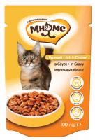 Мнямс Паучи с курицей в соусе для кошек