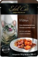 Edel Cat Консервы для кошек  кусочки гусь, печень (пауч)