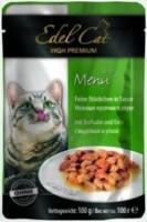 Edel Cat Консервы для кошек кусочки индейка, утка (пауч)