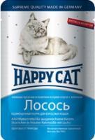 Happy Cat Консервы для кошек нежные кусочки в соусе лосось
