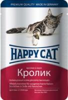 Happy Cat Консервы для кошек нежные кусочки в соусе кролик